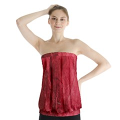 Red Background Texture Strapless Top