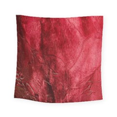 Red Background Texture Square Tapestry (small) by Simbadda