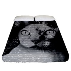 Sphynx Cat Fitted Sheet (queen Size) by Valentinaart