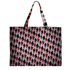 Suit Spades Hearts Clubs Diamonds Background Texture Medium Tote Bag by Simbadda