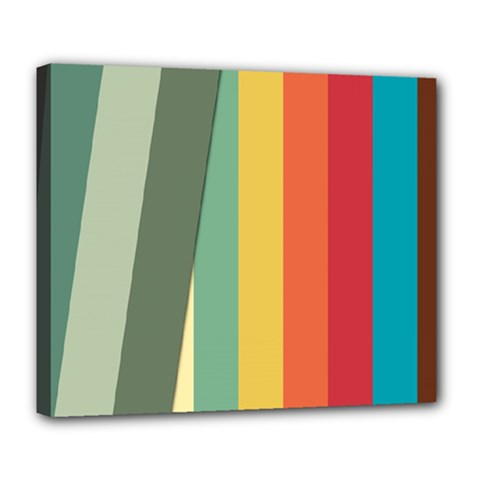 Texture Stripes Lines Color Bright Deluxe Canvas 24  X 20
