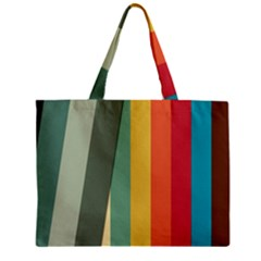 Texture Stripes Lines Color Bright Zipper Mini Tote Bag by Simbadda