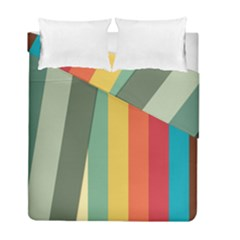 Texture Stripes Lines Color Bright Duvet Cover Double Side (full/ Double Size) by Simbadda