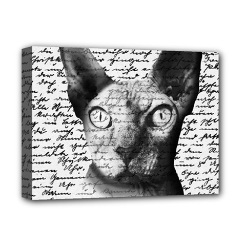 Sphynx Cat Deluxe Canvas 16  X 12   by Valentinaart