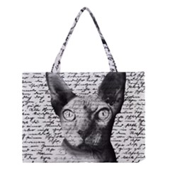 Sphynx Cat Medium Tote Bag by Valentinaart
