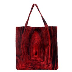 Tunnel Red Black Light Grocery Tote Bag by Simbadda