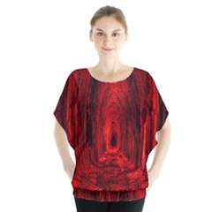 Tunnel Red Black Light Blouse by Simbadda