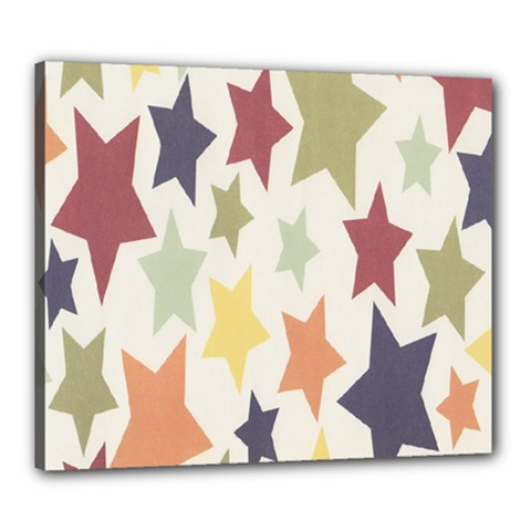 Star Colorful Surface Canvas 24  X 20  by Simbadda