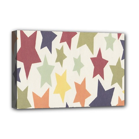 Star Colorful Surface Deluxe Canvas 18  X 12   by Simbadda