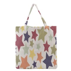 Star Colorful Surface Grocery Tote Bag by Simbadda