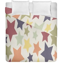 Star Colorful Surface Duvet Cover Double Side (california King Size)