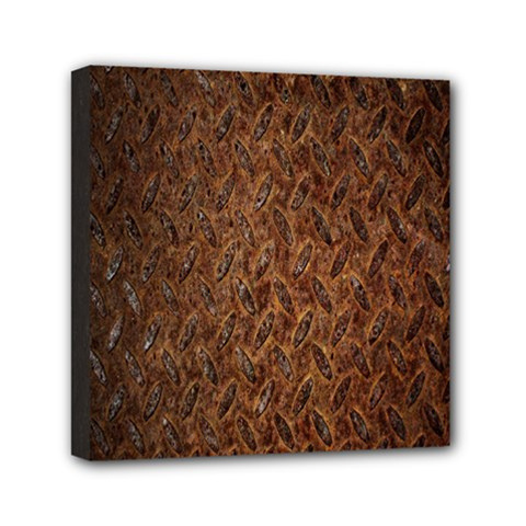 Texture Background Rust Surface Shape Mini Canvas 6  X 6  by Simbadda