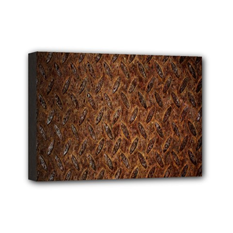Texture Background Rust Surface Shape Mini Canvas 7  X 5  by Simbadda