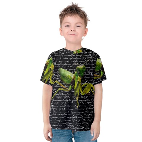 Mantis Kids  Cotton Tee by Valentinaart