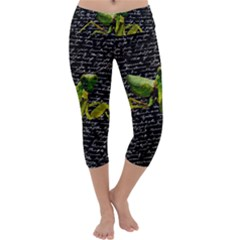 Mantis Capri Yoga Leggings by Valentinaart