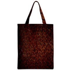 Texture Background Rust Surface Shape Zipper Classic Tote Bag by Simbadda