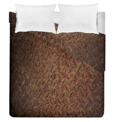 Texture Background Rust Surface Shape Duvet Cover Double Side (queen Size) by Simbadda