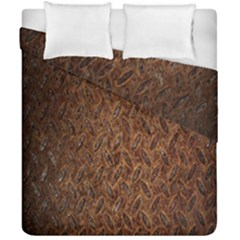 Texture Background Rust Surface Shape Duvet Cover Double Side (california King Size) by Simbadda