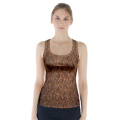 Texture Background Rust Surface Shape Racer Back Sports Top by Simbadda