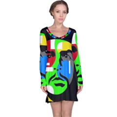 Che Guevara Long Sleeve Nightdress by Valentinaart