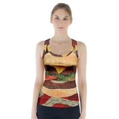 Hamburger Racer Back Sports Top by Valentinaart