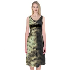 Kurt Cobain Midi Sleeveless Dress