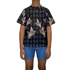 Paper Cranes Kids  Short Sleeve Swimwear