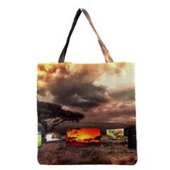 Africa Grocery Tote Bag by Valentinaart