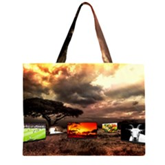 Africa Zipper Large Tote Bag by Valentinaart