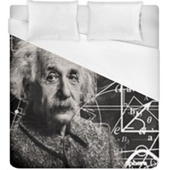 Albert Einstein Duvet Cover (king Size) by Valentinaart