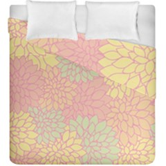 Floral Pattern Duvet Cover Double Side (king Size)