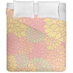 Floral Pattern Duvet Cover Double Side (california King Size) by Valentinaart