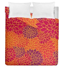 Floral Pattern Duvet Cover Double Side (queen Size)