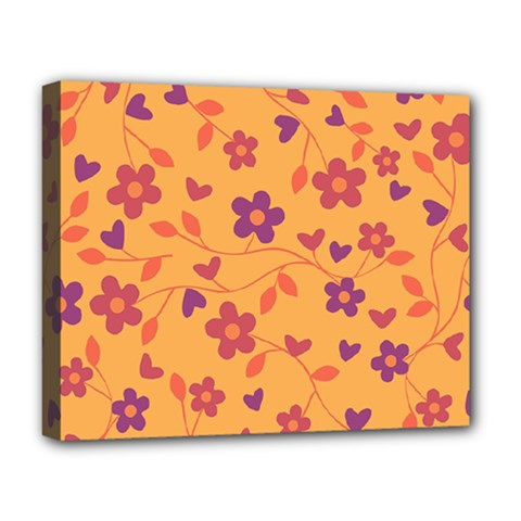 Floral Pattern Deluxe Canvas 20  X 16   by Valentinaart