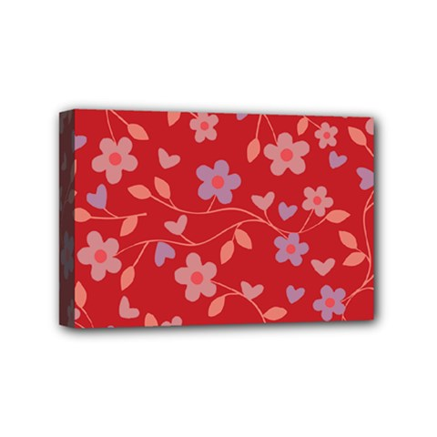 Floral pattern Mini Canvas 6  x 4