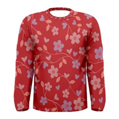 Floral pattern Men s Long Sleeve Tee