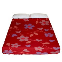 Floral pattern Fitted Sheet (King Size)