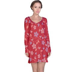 Floral pattern Long Sleeve Nightdress