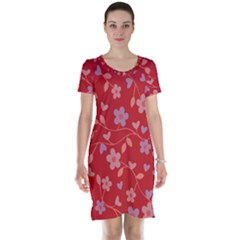 Floral pattern Short Sleeve Nightdress