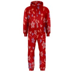 Floral pattern Hooded Jumpsuit (Men)