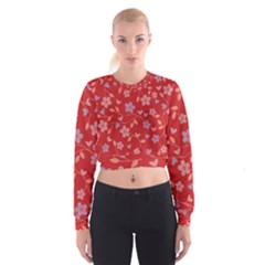 Floral pattern Women s Cropped Sweatshirt
