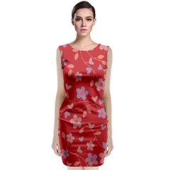 Floral pattern Classic Sleeveless Midi Dress