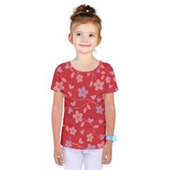 Floral pattern Kids  One Piece Tee