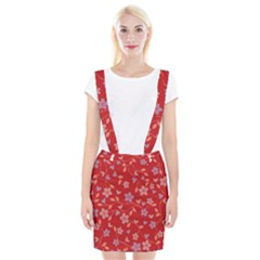 Floral pattern Suspender Skirt