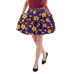 Floral Pattern A Line Pocket Skirt by Valentinaart