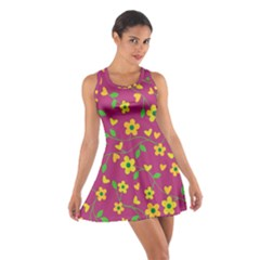 Floral Pattern Cotton Racerback Dress by Valentinaart