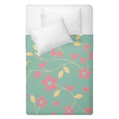 Floral Pattern Duvet Cover Double Side (single Size) by Valentinaart