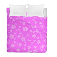 Floral Pattern Duvet Cover Double Side (full/ Double Size) by Valentinaart