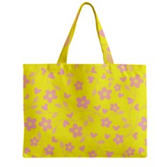Floral Pattern Zipper Mini Tote Bag by Valentinaart