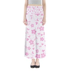 Floral Pattern Maxi Skirts by Valentinaart
